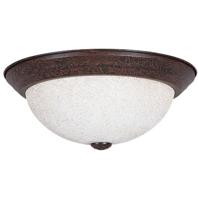 3-Light Flush Mount Glass Color: Turismo