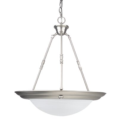 2-Light Bowl Pendant Finish: Satin Nickel