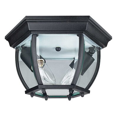 French 2-Light Flush Mount Finish: Black