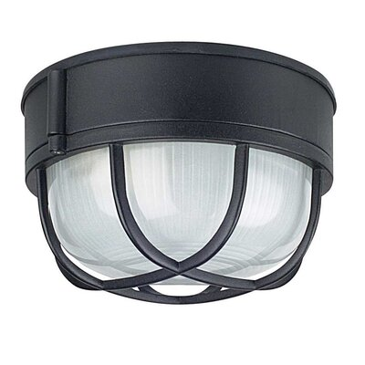 Withrow 1-Light Flush Mount Color: Black, Size: 4.5 H x 7.25 W x 7.25 D
