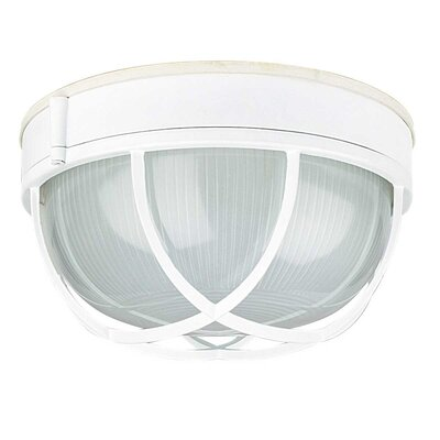 Withrow 1-Light Flush Mount Finish: White, Size: 5.13