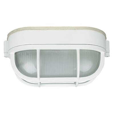 1-Light Flush Mount Finish: White, Size: 8.5 x 4.38