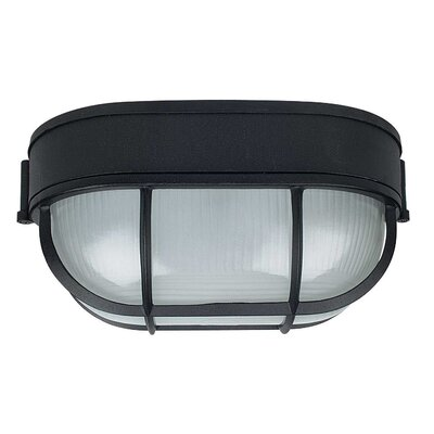 1-Light Flush Mount Finish: Black, Size: 8.5 x 4.38