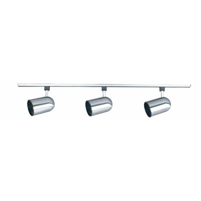 3-Light Full Track Lighting Kit Finish: Bright Satin Nickel
