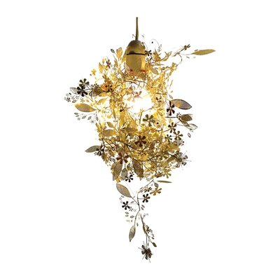 Garland 10 Lamp Pendant Shade Finish: Brass