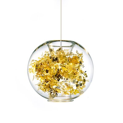 Tangle 1-Light LED Globe Pendant Finish: Brass