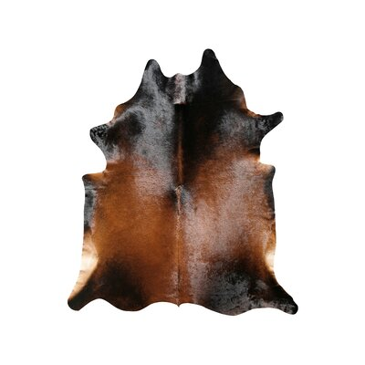 Natural Cowhide Normand Rug Rug Size: 6 x 7