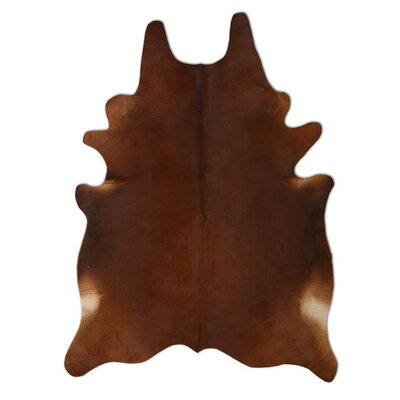 Natural Cowhide Chestnut Area Rug Rug Size: 6 x 7