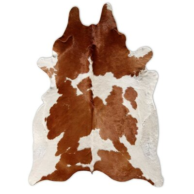 Leonardo Handmade Cowhide Light Brown Area Rug