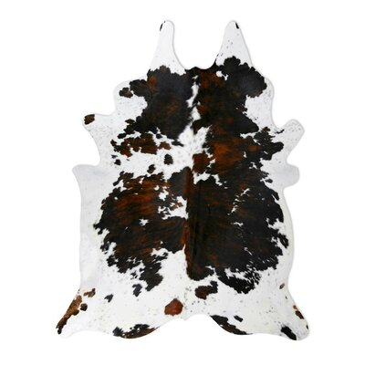 Natural Cowhide Tri-color Rug Rug Size: 6 x 7