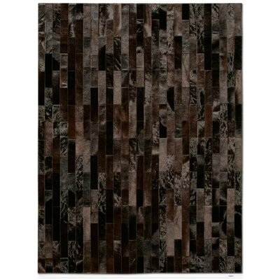Patchwork Cowhide Linea Brownie Area Rug Rug Size: Rectangle 4 x 6