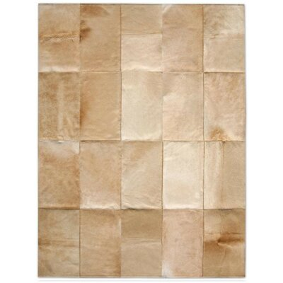 Patchwork Cowhide Mies Wheat Area Rug Rug Size: Rectangle 5 x 6