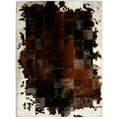 Patchwork Cowhide Park Corbu Brown Area Rug Rug Size: Rectangle 6 x 8