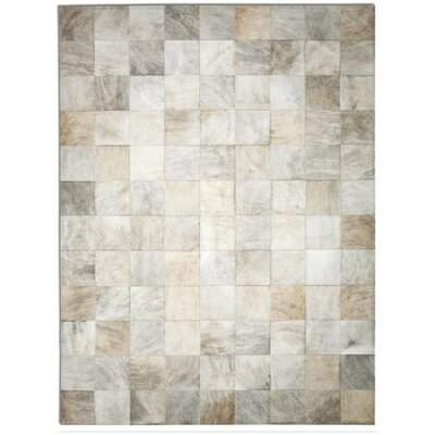 Patchwork Cowhide Park Light Brindle Area Rug Rug Size: Round 8