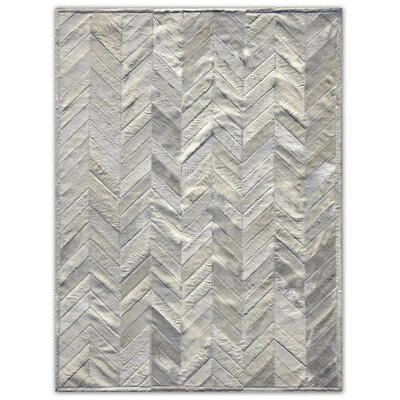 Patchwork Cowhide Yves Ivory Area Rug Rug Size: Rectangle 5 x 7