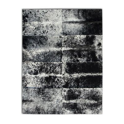 Patchwork Cowhide Oak Coal Grey Area Rug Rug Size: 6 x 8