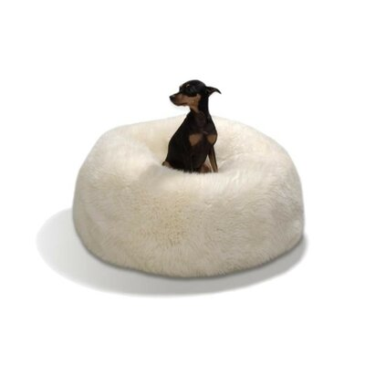 Patagonia Sheepskin Bean Bag Chair Upholstery: Natural White, Size: 33 Diameter