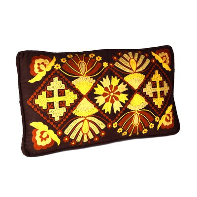 African Embroidery Lumbar Pillow (Set of 2)