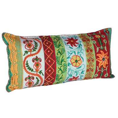 Tropical Lace Embroidery Lumbar Pillow