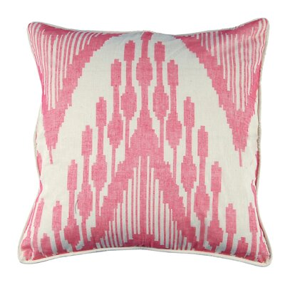 Ikat Heartbeat Design Cotton Throw Pillow