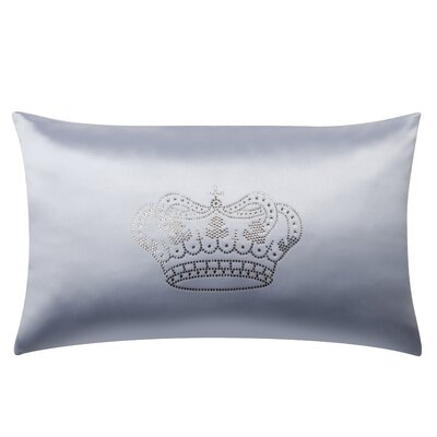 Majestic Crown Swarovski� Oblong Lumbar Pillow Color: Grey