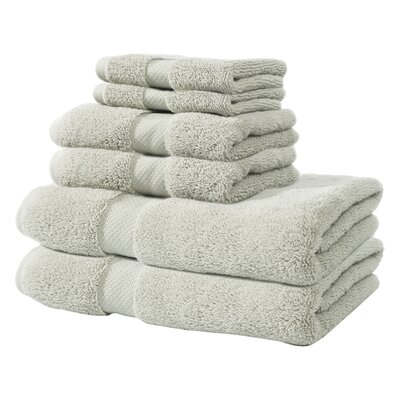 Zero Twist 6 Piece Towel Set Color: Gray