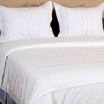 Caspian 3 Piece Duvet Set Size: Queen