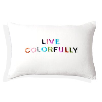 Hue Embroidered Lumbar Pillow