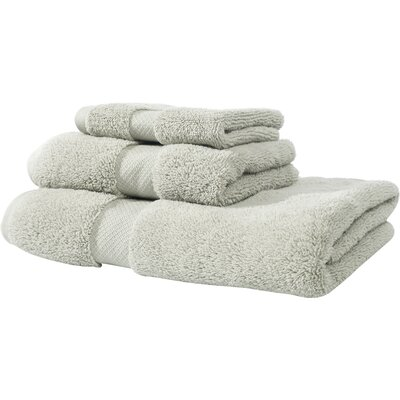 Zero Twist Cotton 3 Piece Towel Set Color: Gray