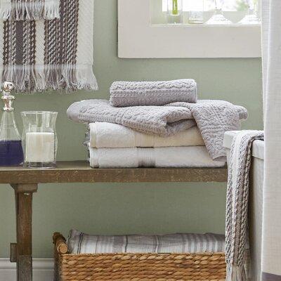Zero Twist 6 Piece Towel Set Color: White