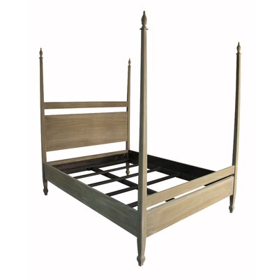 Venice Four Poster Bed Size: Queen, Color: Weathered