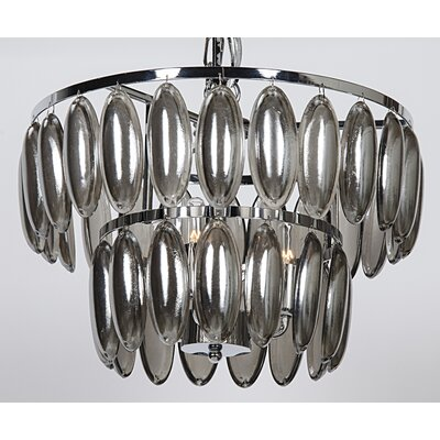 3-Light Crystal Chandelier Size: 12.5 H x 15.5 W x 15.5 D