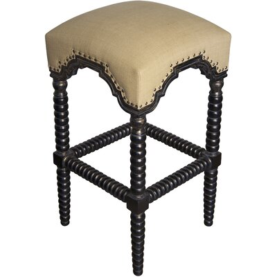 Abacus 30 inch Bar Stool Finish: Hand Rubbed Black