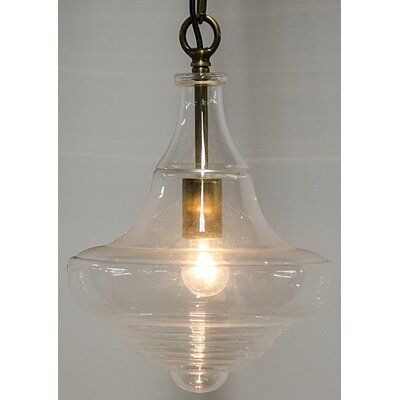 1-Light LED Schoolhouse Pendant
