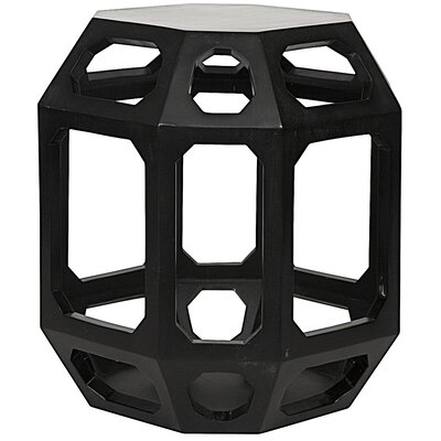 Crete End Table Finish: Black