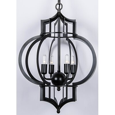 4-Light Foyer Pendant Finish: Bronze