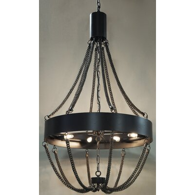 Swindon 8-Light Shaded Chandelier