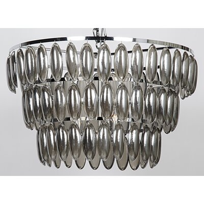 3-Light Crystal Chandelier Size: 18 H x 24 W x 24 D