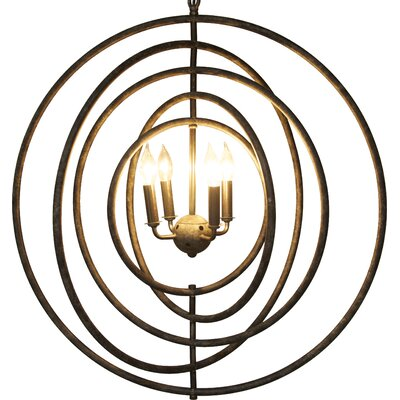 4-Light Globe Pendant Finish: Natural