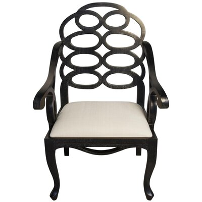 Cesara Solid Wood Dining Chair Finish: Hand Rubbed Black