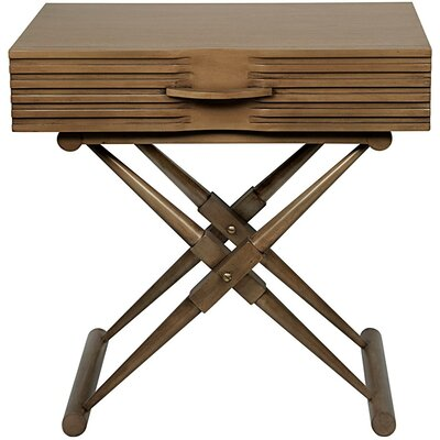 Zanta End Table with Storage Color: Saddle Brown