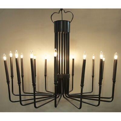Kooper 16-Light Candle-Style Chandelier Finish: Black
