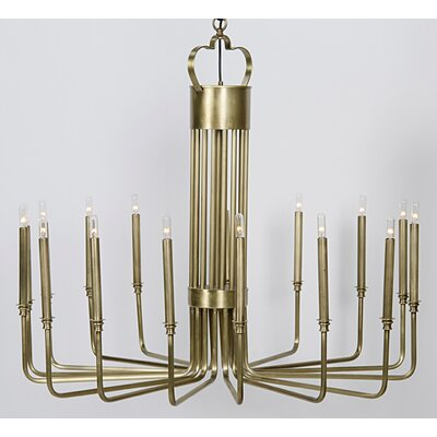 Kooper 16-Light Candle-Style Chandelier Finish: Antique Brass
