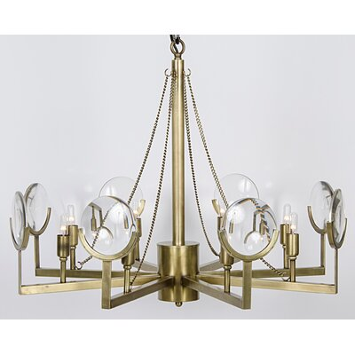 Pia 8-Light Candle-Style Chandelier Finish: Antique Brass
