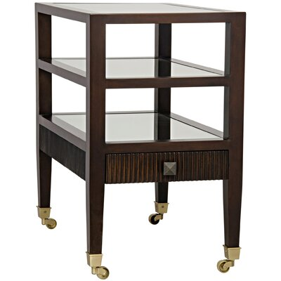 Lesly End Table Color: Distressed Brown