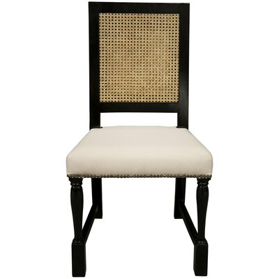 Colonial Solid Wood Dining Chair Finish: Distressed Black