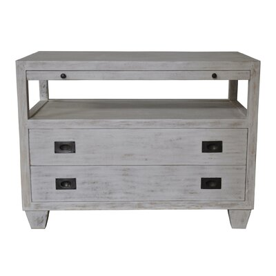 End Table with Storage Color: White Wash