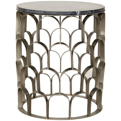 Mina End Table Color: Antique Silver
