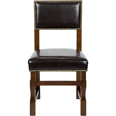 Abandon Genuine Leather Upholstered Dining Chair Finish: Distressed Brown