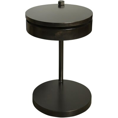 Ebba End Table Color: Black